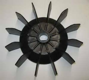 Крыльчатка вентилятора компрессора AC252(по валу 23,5мм,по лопастям 212мм)