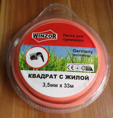 Леска 3,5*33 квадрат с жилой(полупрозрачный с оранжевой жилой) Winzor