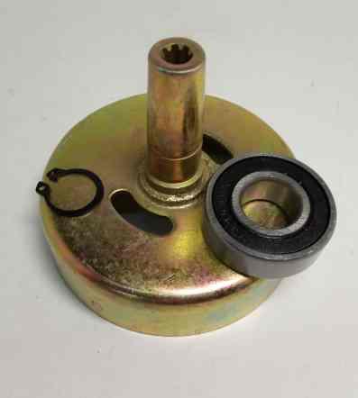 Барабан сцепления для бензокосы (триммера) 430/520 квадрат 5мм (набор с подшипником и стопором)