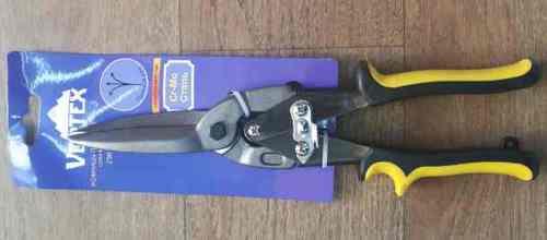 Ножницы по металлу 290мм Vertex (удлиненные, прямой рез)