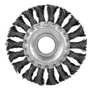 Щетка для УШМ косичка плоская (жесткая, 125х22мм)