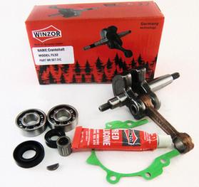 Коленвал для бензокосы (триммера) 52cc (комплект:2 подшипника,2 сальника,прокладка, герметик) Winzor