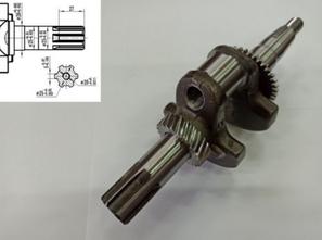 Коленвал для двигателя 168/170F (шлицы 25мм)