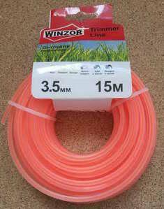 Леска 3,5*15 квадрат с жилой(полупрозрачный с оранжевой жилой) Winzor