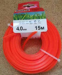 Леска 4,0*15 квадрат(оранжевый) Winzor