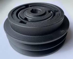 Муфта сцепления для виброплиты 2A130-1905-475 (арт.145007)(пос.19,05мм,наруж.диам.130мм,2-ручейка)